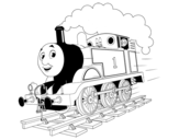 Thomas the blue engine coloring page