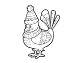 Warm bird coloring page