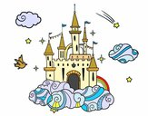 Coloring page Castle in the Clouds painted bymicheleof4