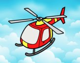 Coloring page Helicopter flying painted byLornaAnia