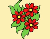 Coloring page Little flowers painted byLornaAnia