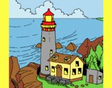 Coloring page Lighthouse painted byLornaAnia
