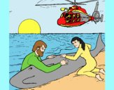 Coloring page Whale rescue painted byLornaAnia