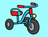Coloring page A children's tricycle painted byLornaAnia