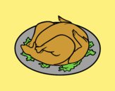 Coloring page Roasted chicken painted byLornaAnia