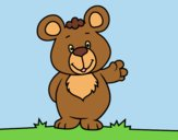 Coloring page Bear greeting painted byANIA2