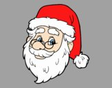 Coloring page One Santa Claus face painted byAnitaR