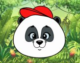 Panda face with hat